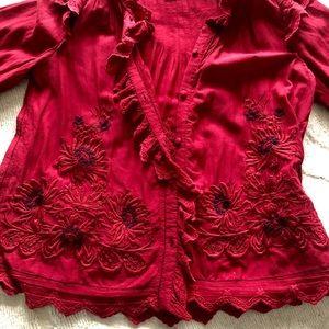 Sea New York Greta floral-embroidered blouse